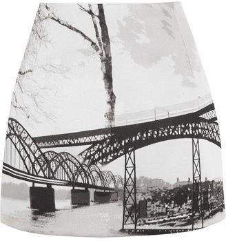 Mary Katrantzou Kal jacquard mini skirt