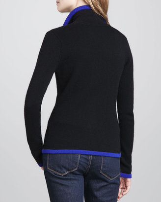 Autumn Cashmere Contrast-Trim Cashmere Blazer