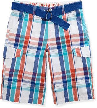 Epic Threads Kids Shorts, Boys Plaid Cargo Shorts