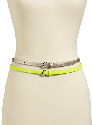 Old Navy Women's Skinny Belt 2-Packs