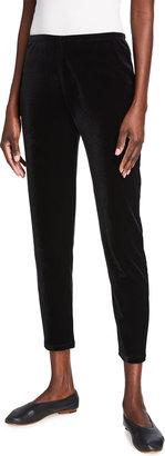 Joan Vass Ankle Length Velour Leggings