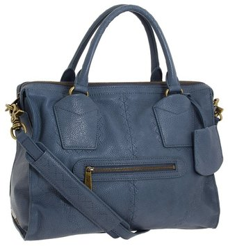 Botkier Jackson Satchel (Cobalt Cowhide/Antique Brass) - Bags and Luggage