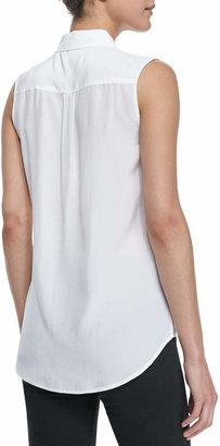 Equipment Slim Signature Sleeveless Blouse, Bright White
