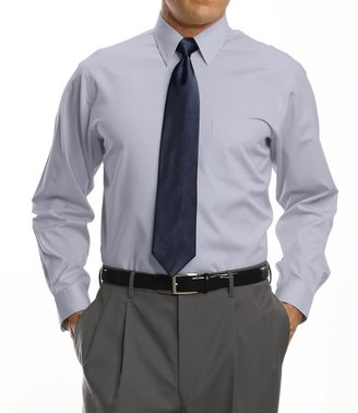 Jos. A. Bank Traveler Tailored Fit Pinpoint Solid Point Collar Dress Shirt