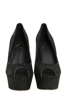 Brian Atwood Bambola Peep Toe Pump in Black