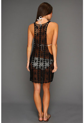 MinkPink Evelyn Crochet Mini Dress