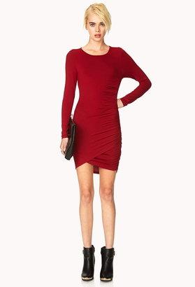 Forever 21 Sleek Ruched Dress
