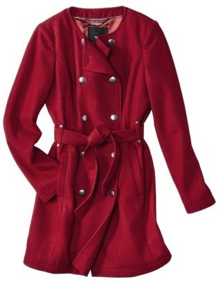 Mossimo Women's Double Breasted Collarless Coat -Assorted Colors