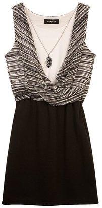 Amy Byer Iz twist mock-layer dress - girls 7-16