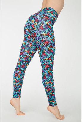 American Apparel Floral Print Nylon Leggings