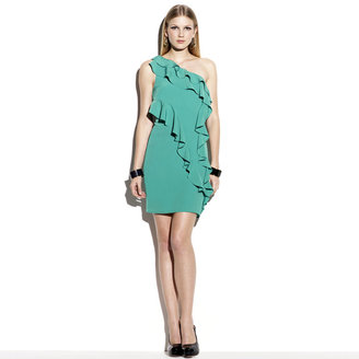 Vince Camuto One Shoulder Ruffle Dress