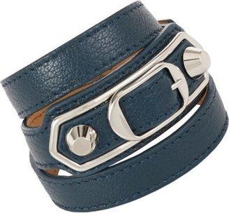 Balenciaga Ligne Classic Leather Wrap Bracelet