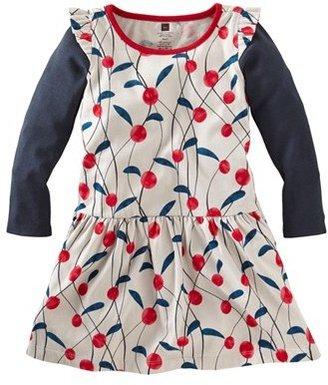 Tea Collection 'Lychee' Long Sleeve Dress (Little Girls & Big Girls)