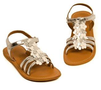 Pazitos Girl's Tutti Fiori Sandal - Silver