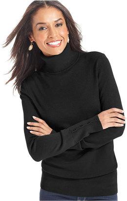 JM Collection Long-Sleeve Turtleneck Sweater
