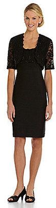R & M Richards Lace-Top Jacket Dress