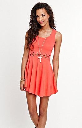 Kirra Waist Lace Up Dress
