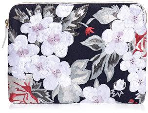 Lizzie Fortunato Floral embroidered clutch