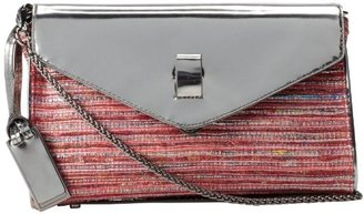 Gryson Women's Belted Strap Mixed Media Clutch