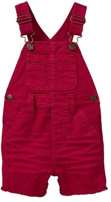 Gap Red short denim overalls