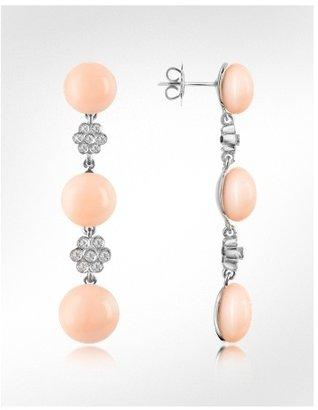 Del Gatto Diamond and Three-stone Drop Earrings