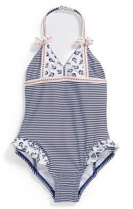 Hula Star 'Anchored' One-Piece Swimsuit (Toddler Girls)