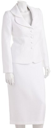 Isabella Collection textured suit jacket & skirt set