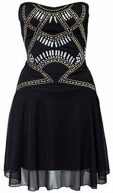 Elise Ryan Front Studded Waist Dress