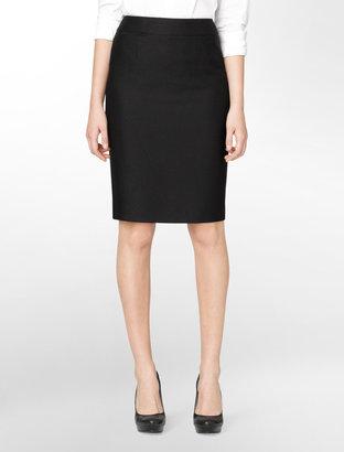 Calvin Klein Jacquard Tailored Pencil Skirt