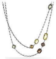 David Yurman Chatelaine Necklace with Lemon Citrine, Cognac Diamonds, and Gold