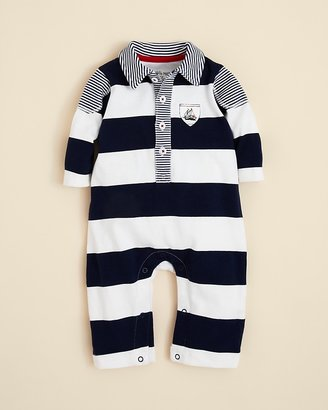 Little Me Infant Boys' Sail Stripe Coverall - Sizes 3-9 Months