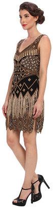 Unique Vintage Beaded Fringe Flapper Dress