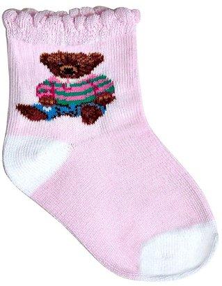 Ralph Lauren Infant Girls' Polo Girl Teddy Crew Socks - Sizes 6-24 Months