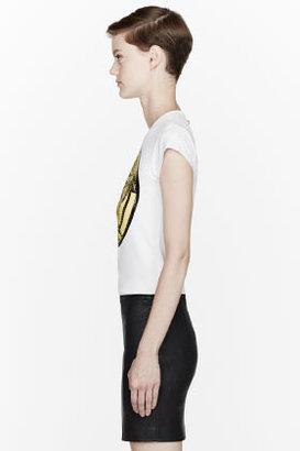 Versace White Censored logo T-Shirt