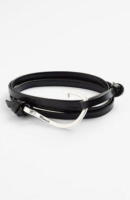 Men's Miansai Silver Hook Leather Bracelet $65 thestylecure.com