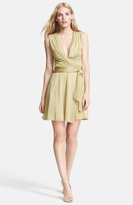 Diane von Furstenberg 'Nina' Metallic Wrap Dress