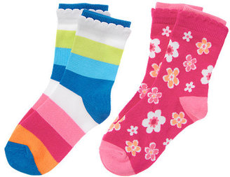 Gymboree Flower Stripe Sock Two-Pack