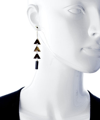 Lapis Blydesign Bomani Brass And Drop Earrings