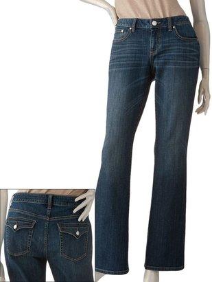JLO by Jennifer Lopez embellished bootcut jeans