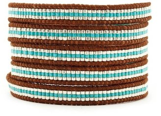 Chan Luu Silver & Colored Tube Bead Wrap Bracelet