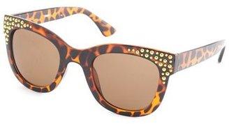 Charlotte Russe Studded Chunky Sunglasses
