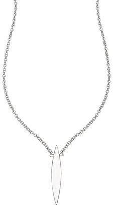 Maya Brenner Sterling Silver Long Horizon Necklace