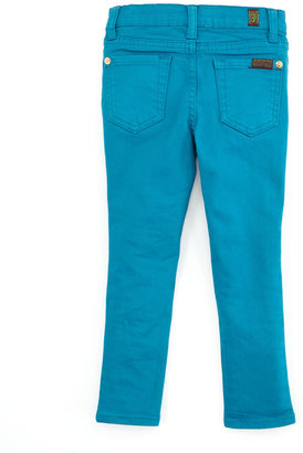 7 For All Mankind The Skinny Enamel Blue Jeans, 2T-3T