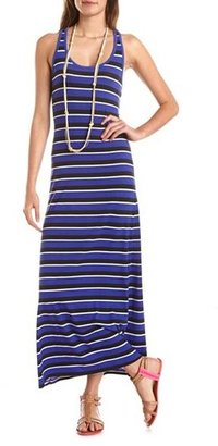 Charlotte Russe Striped Knotted Racerback Maxi Dress