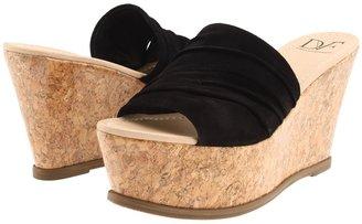 Diane von Furstenberg Palm (Black Suede) - Footwear