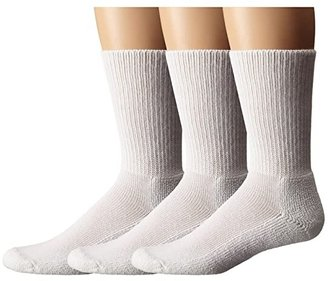Thorlos Uniform Crew 3-Pair Pack (White) Crew Cut Socks Shoes