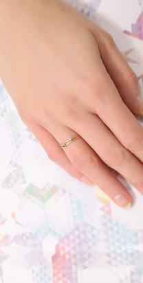 Jennifer Meyer Jewelry 18k Gold Thin Ring with Sapphire