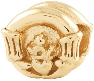 Prerogatives Gold-Plated Sterling Claddagh Bead