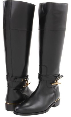 Burberry Collar and Pin Leather Boots (Black) - Footwear