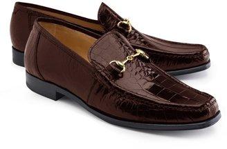 Brooks Brothers Genuine American Alligator Classic Bit Loafers